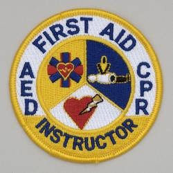 Embroidered Patch - 'First Aid CPR AED Instructor Patch