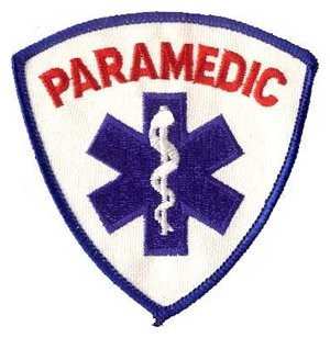 PARAMEDIC Shield Patch Blue and Red