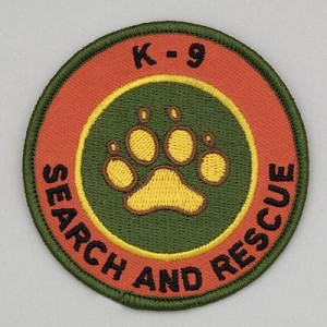 Embroidered Patch - 'K-9 Search and Rescue Patch