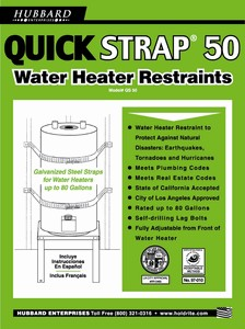 Water Heater Wall Strap - 80 gallons