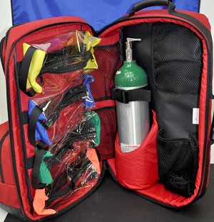 O2 / Trauma / AED Backpack (Red)