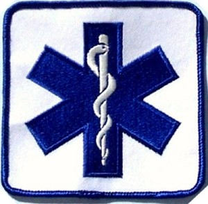 "4"" Star of Life Embroidered Patch"